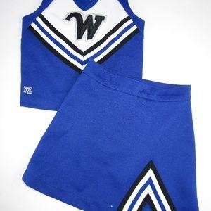 Child Cheerleader Uniform Youth XS Spots on Top
